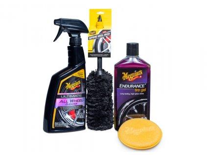 Meguiar's Wheel & Tire Kit - kompletní sada na mytí a ochranu kol a pneumatik