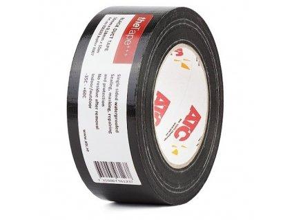 Černá opravná páska s textilním podkladem 50mm x 0,32mm x 50m