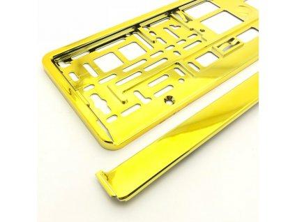 Podložka pod ŠPZ os. auto 1ks Zlatá metalíza