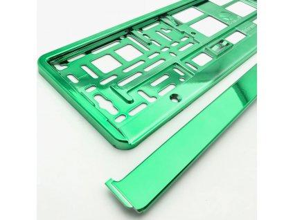 Podložka pod ŠPZ-os. auto - 1ks Zelená metalíza