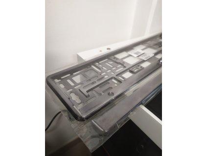 Podložka pod ŠPZ-os. auto - 1ks Grafitová metalíza