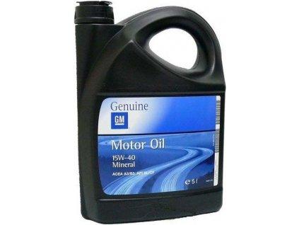 Motorový olej GM Genuine 15W-40, 5L