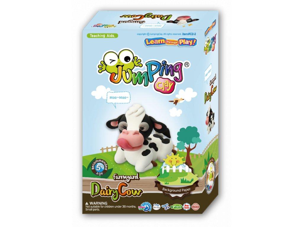 Sada Jumping Clay k výrobě kravičky