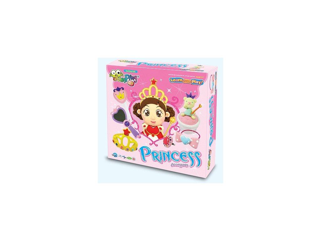 Velká sada Jumping Clay k výrobě princeznovských doplňků  + tvořítko + doplňky