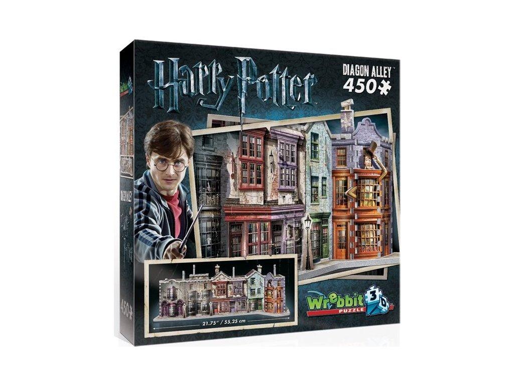 WREBBIT poškozený obal: 3D puzzle Harry Potter: Příčná ulice 450 dílků