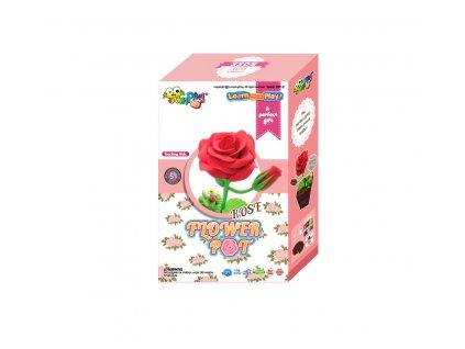 Sada Jumping Clay k výrobě růže  + tvořítko + papírový květináč