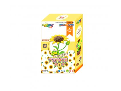 Sada Jumping Clay k výrobě slunečnice  + tvořítko + papírový květináč