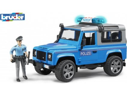 Bruder Auto Land Rover policie s figurkou