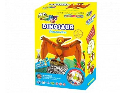 Sada Jumping Clay k výrobě Pteranodona  + kostra dinosaura + tvořítko