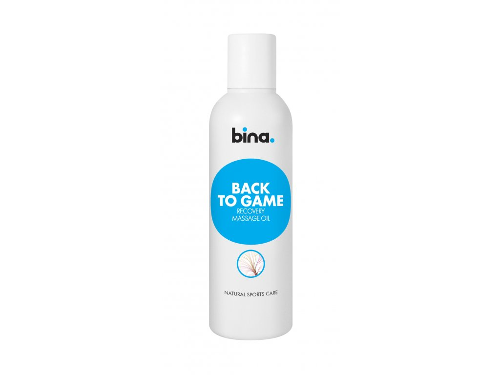 bina natural sports care back to game recovery massage oil