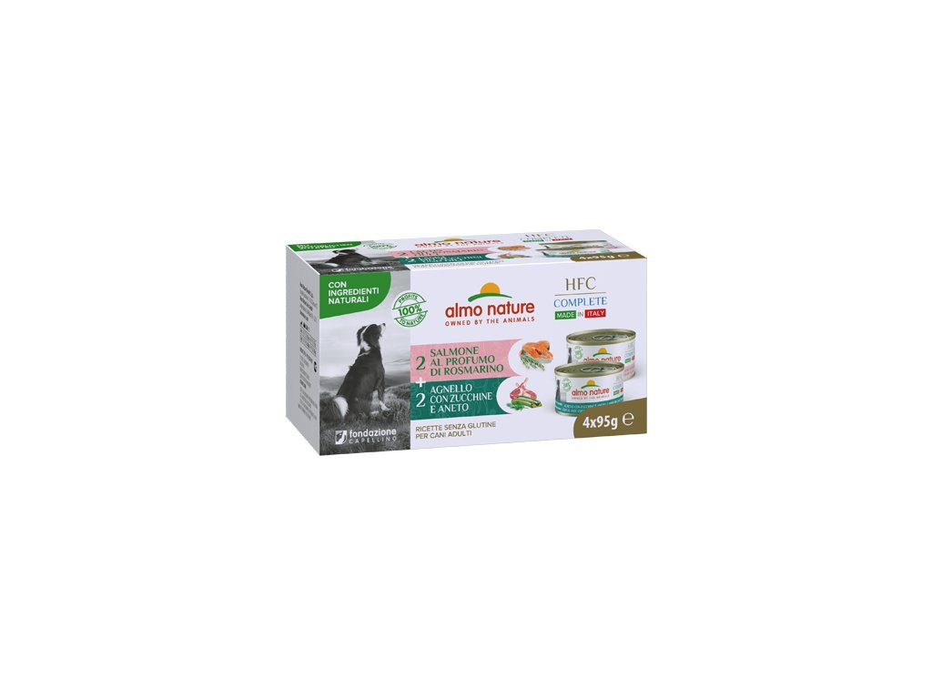 multi-pack-almo-nature-hfc-complete-dogs-jahna-losos-4x-95g