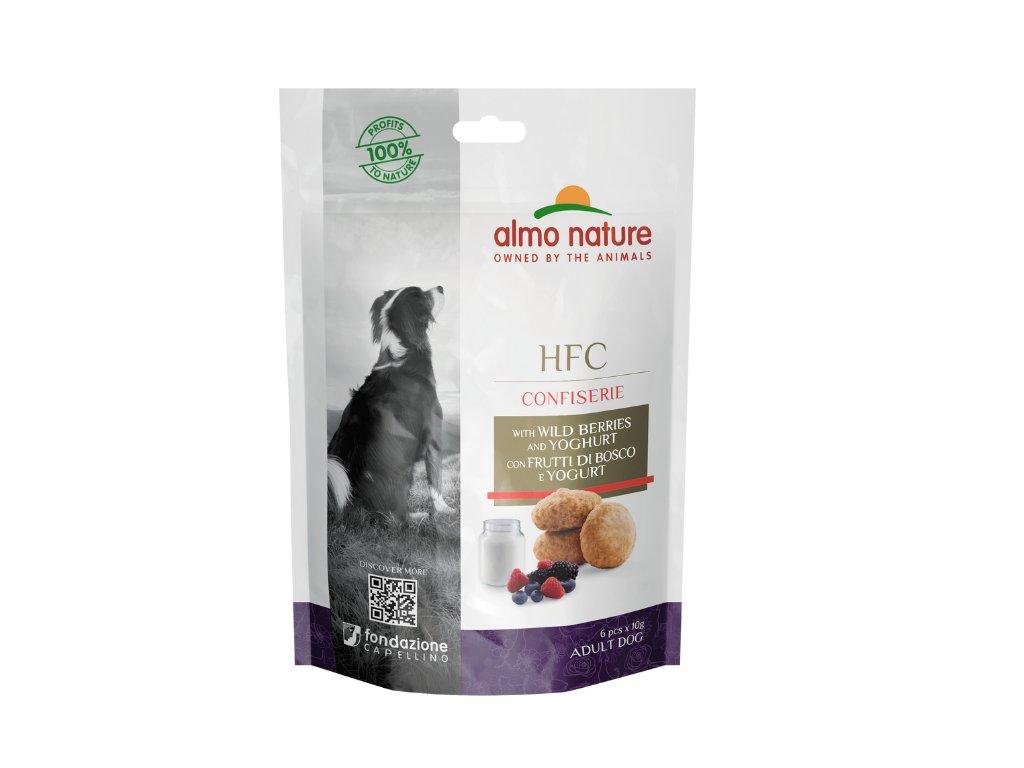 almo-nature-hfc-confiserie-dog-pochutka-lesna-zmes-a-jogurt-60g