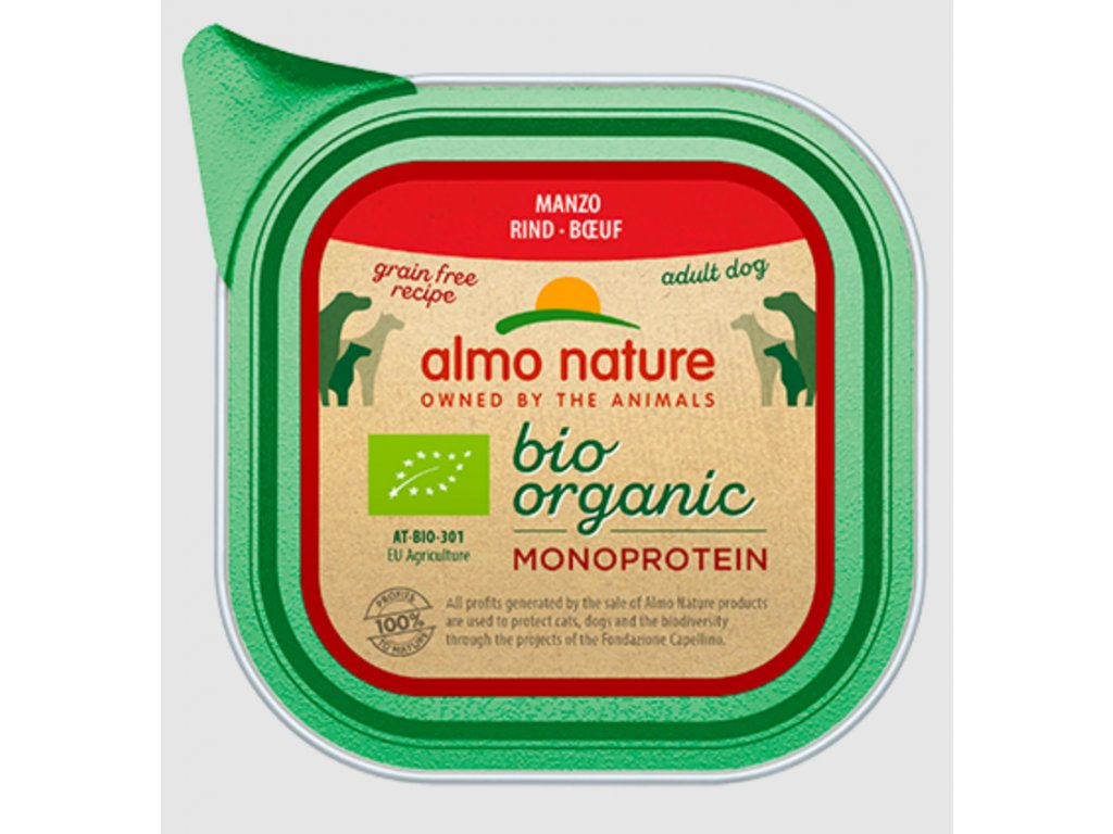 almo-nature-bio-organic-dog-monoprotein-hovadzi-6x-150g