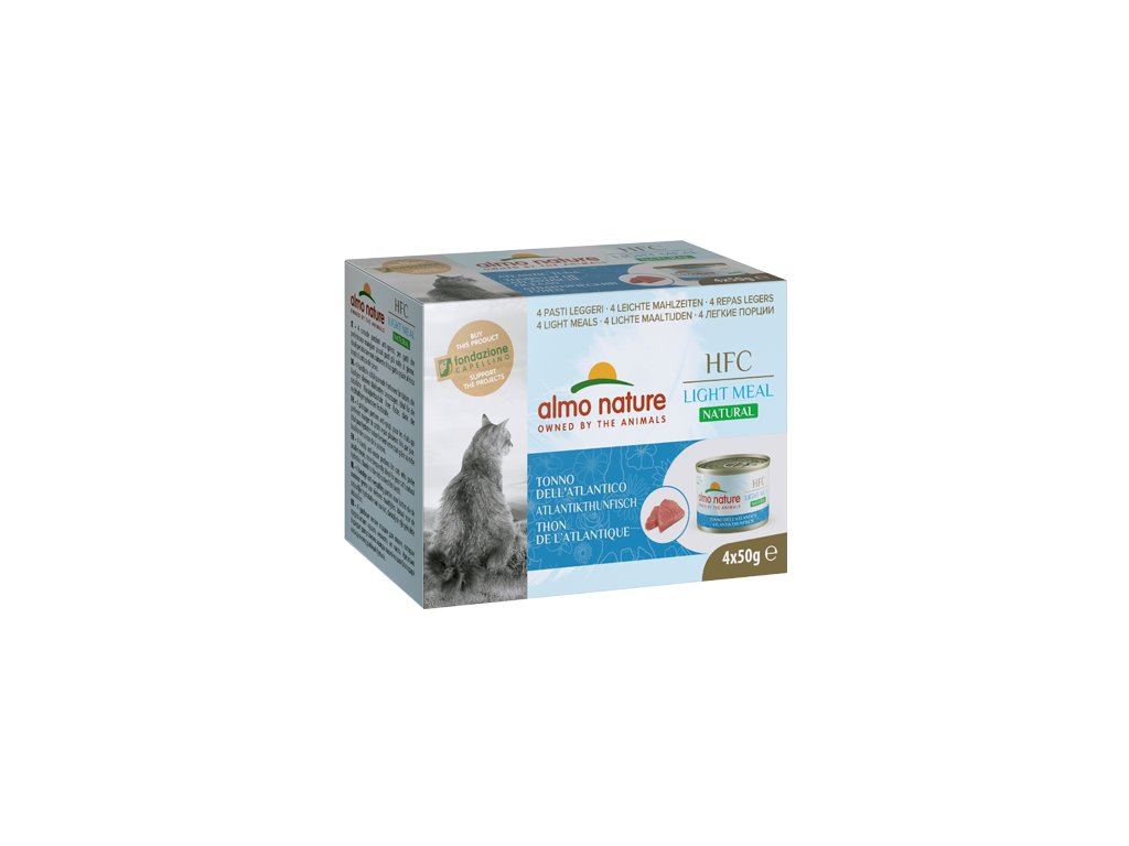 4x-50g-almo-nature-hfc-natural-light-meal-cats-atlanticky-tuniak-mega-pack