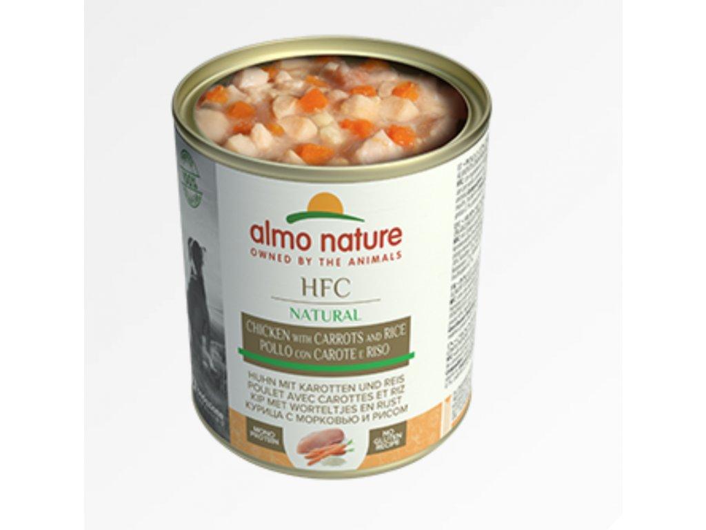 almo-nature-hfc-natural-dog kura-karotka-ryza-konzervy-6x-280g