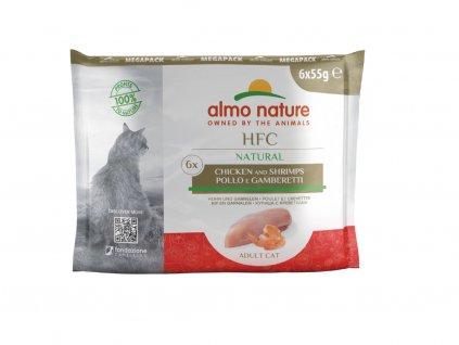 almo-nature-hfc-natural-cat-kura-s-krevetami-mega-pack-6x-55g