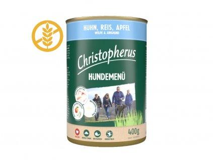 christopherus-hundemenu-junior-dog-s-kuracim-masom-ryzou-a-jablkom