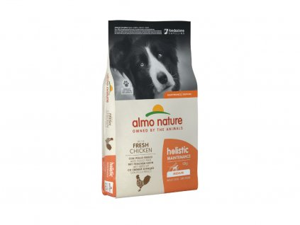 almo nature holistic dogs m adult cerstve kuracie 12kg
