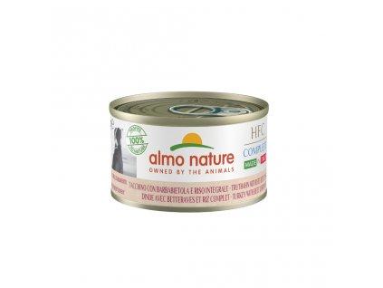 almo-nature-hfc-natural-dog-morcacie-s-cervenou-repou-a-hnedou-ryzou-95g