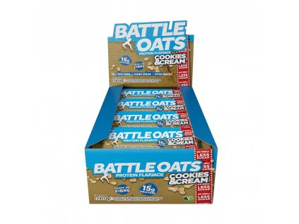 Battle Oats Cookies And Cream Flapjack Low Sugar opt