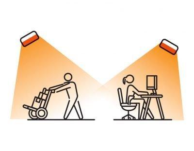 Průmyslové infrazářiče - instalace