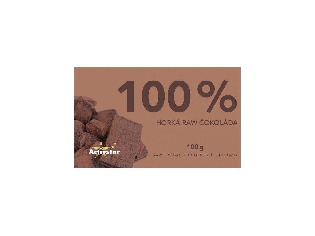 100% horká RAW čokoláda 100g