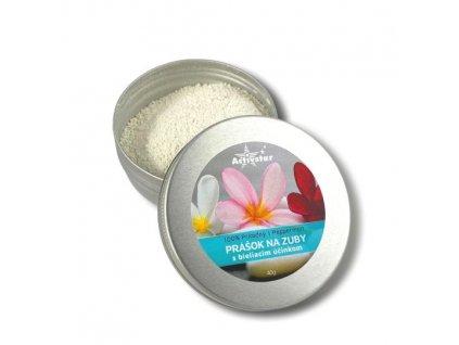 Prášok na zuby s bieliacim účinkom pepermint 100% prírodný, 40 g