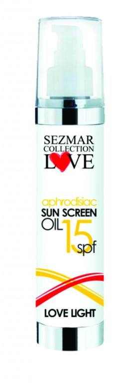 Přírodní olej na opalovaní s afrodiziaky 15 SPF 100ml
