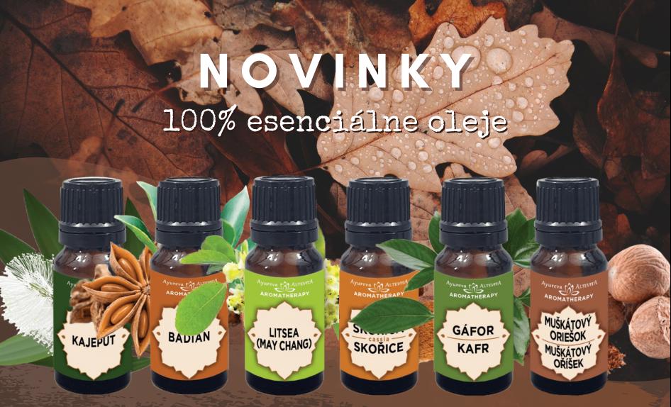 Nové jednodruhové esenciálne oleje