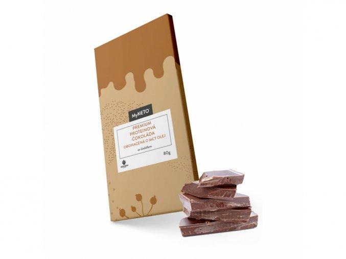 MyKETO Premium proteínová čokoláda s MCT olejom 80g