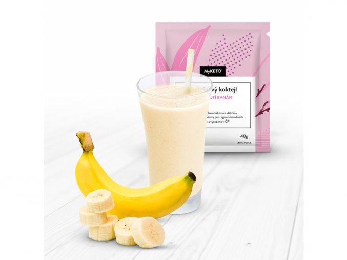 MyKETO Proteínový koktail s príchuťou banán 1 porcia 40g