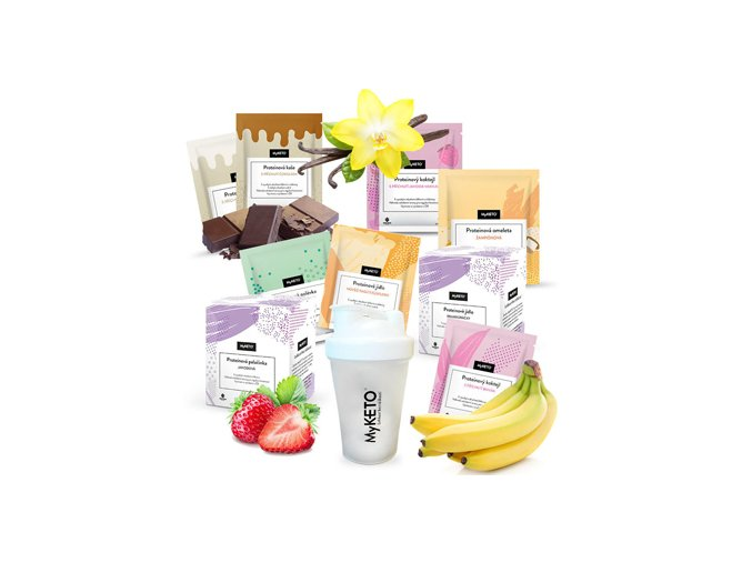 MyKETO proteínová keto diéta MEDIUM1, výhodný diétny balíček (diéta na 14 dní) 70×40 g