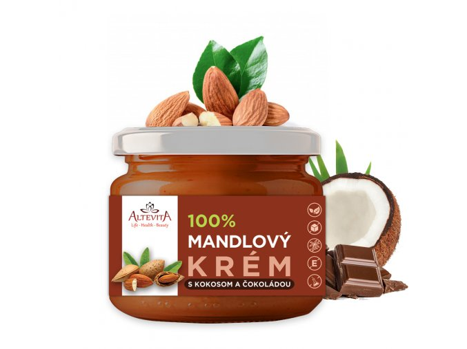 Altevita mandľový krém s kokosom a čokoládou 300g