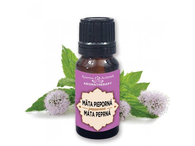 Altevita 100% esenciálny olej MATA PIEPORNÁ - PEPPERMINT - Olej dezinfekcie a sviežosti 10ml