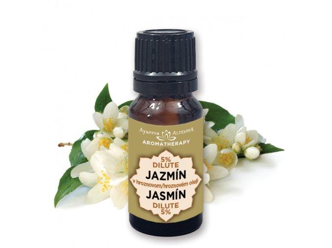 Altevita 5% dilute JAZMÍN v hroznovom oleji 10ml olej kráľovnej