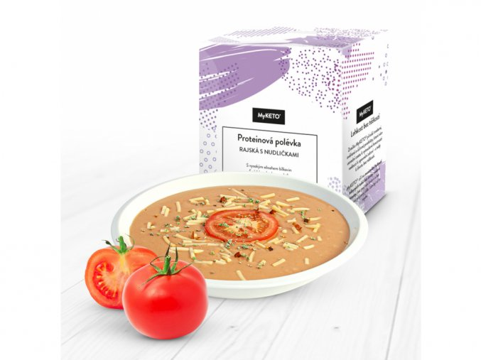 MyKETO Proteínová polievka rajčinová s rezancami 1 porcia 40g