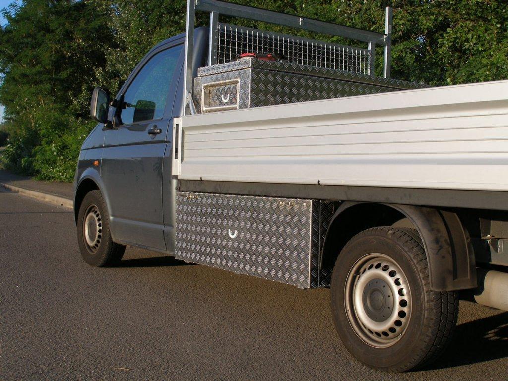 VW T5 Werkeugbox Einzelkabine lang links