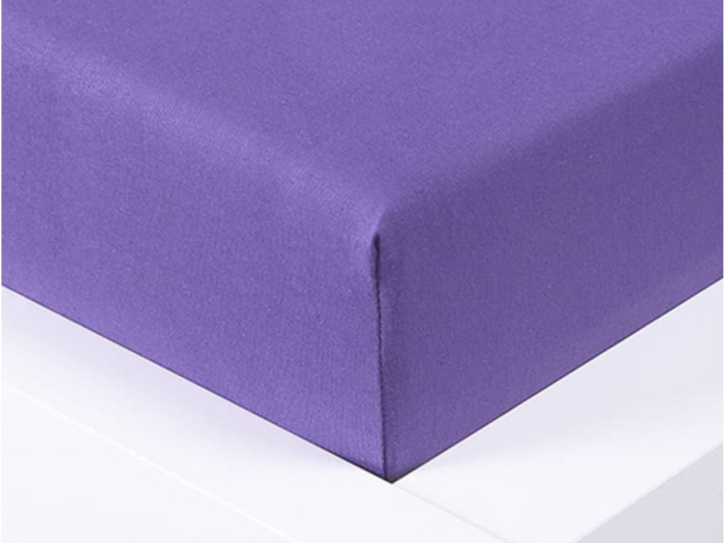 14047 jersey prosteradlo exclusive jednoluzko fialova 90x200 cm