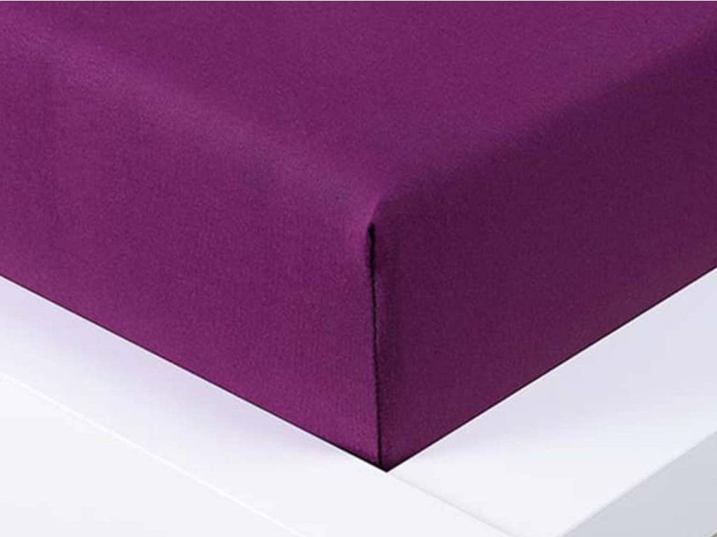 13996 jersey prosteradlo exclusive jednoluzko svestkova 90x200 cm