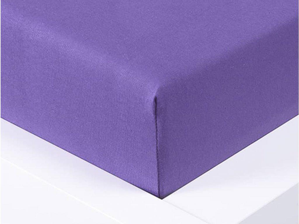 14323 jersey prosteradlo exclusive dvouluzko fialova 180x200 cm