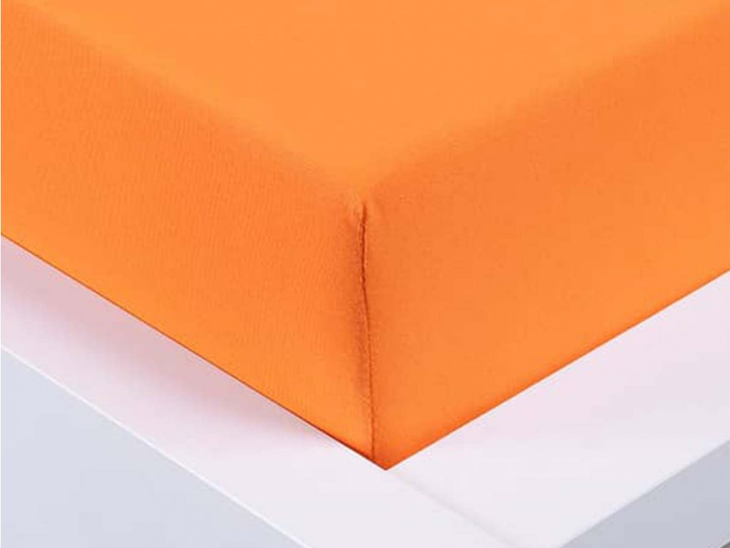 14332 jersey prosteradlo exclusive dvouluzko oranzova 180x200 cm