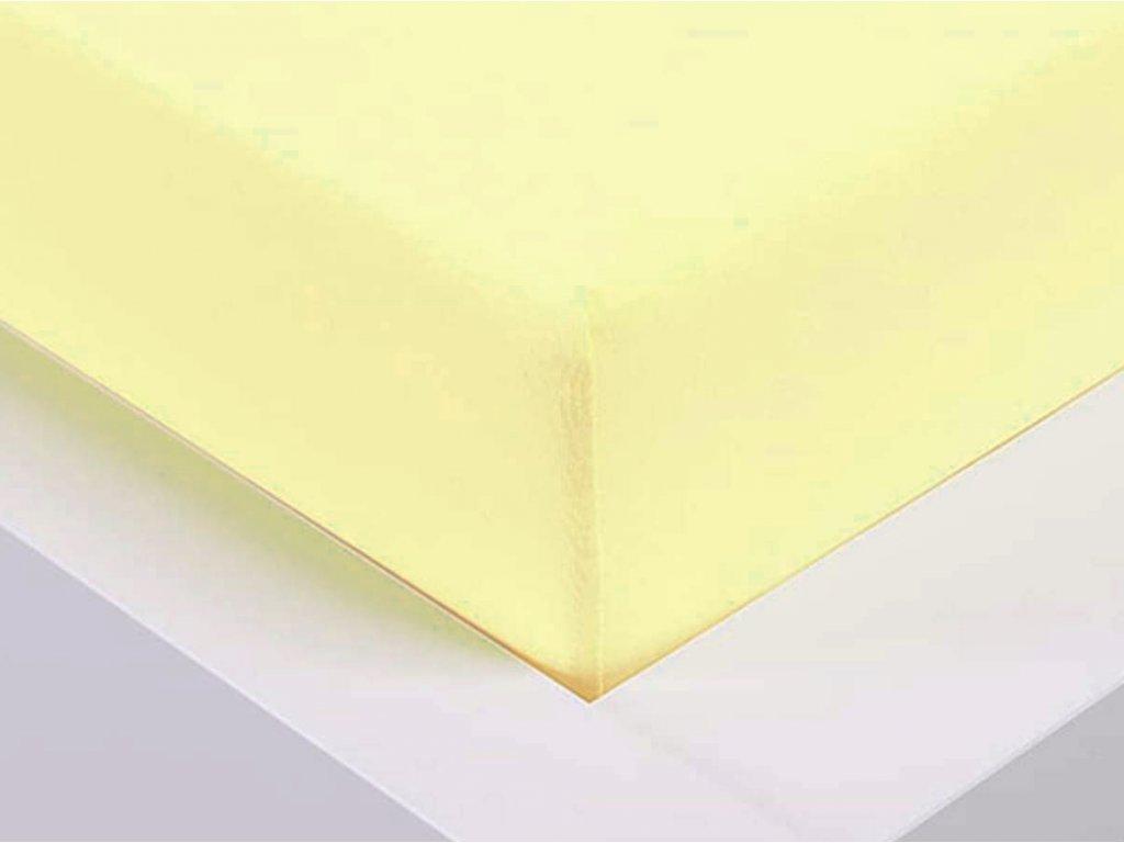 14329 jersey prosteradlo exclusive dvouluzko vanilkova 180x200 cm