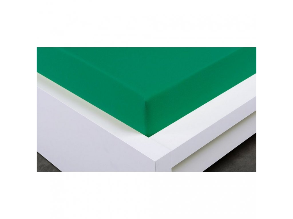 jersey prosteradlo 90x200 tmave zelene