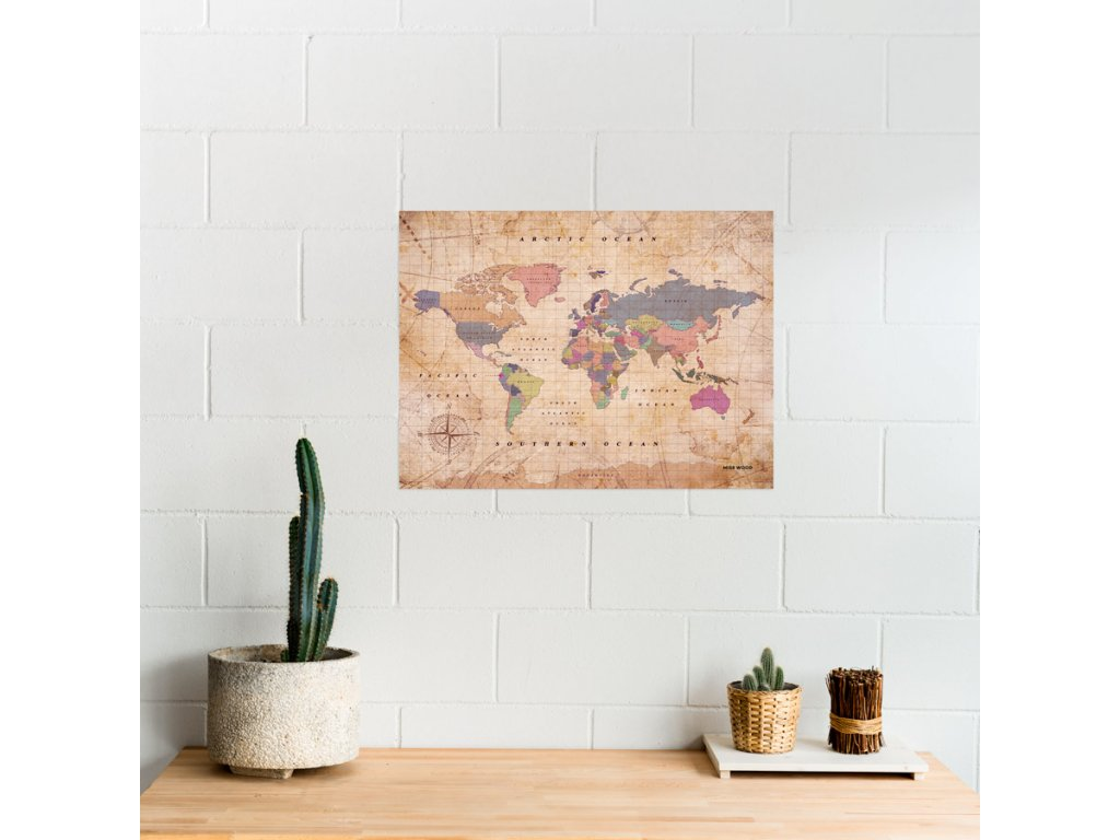 political worldmap map of the world watercolor old school
