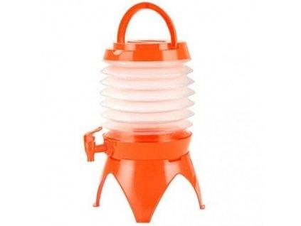 Skládací kanystr na vodu 3,5 l - oranžový