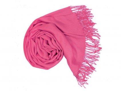 Dámská růžová pašmína / Dámská růžová šála