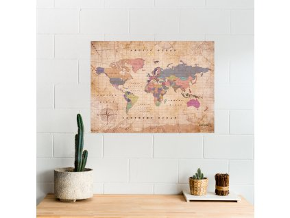 XLpolitical worldmap map of the world watercolor old school (5)