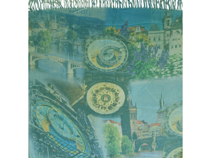 1471 pasminove saly s motivem praha sv modro zelena