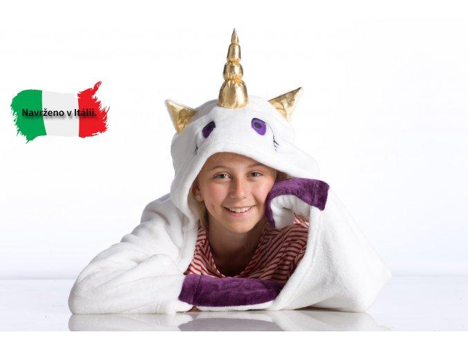 2292 1 detska nositelna deka jednorozec