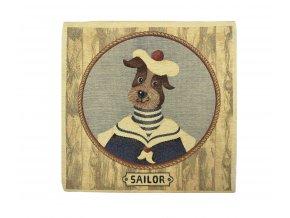 1588 dekoracni povlak na polstar pes velky